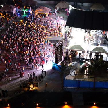 Outside Concert Ariel View on Beach