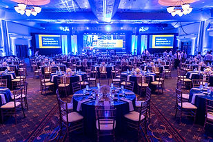 Overview of a Gala Event in Shades of Purple