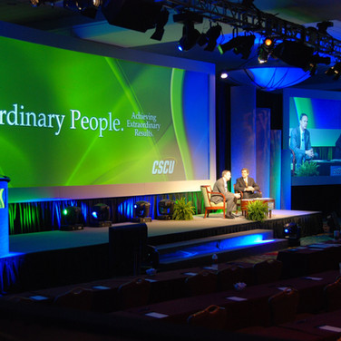 Conference Wide Screen Custom Podium with Monitor