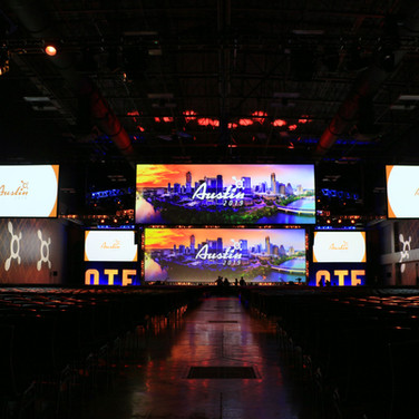 OTF Conference 2 Wide LED Sceens Custom LED Letters