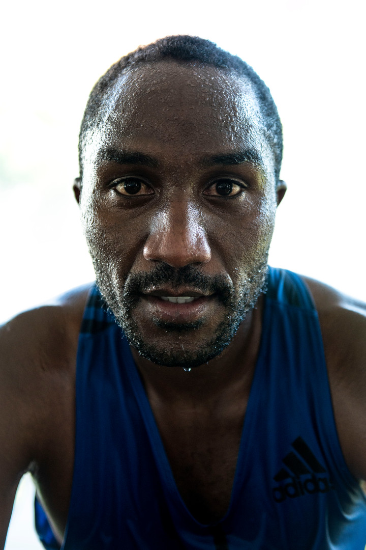 Denis Chirchir poses for a portrait following his second place finish in the 2019 Medtronic Twin Cities Marathon on Sunday, Oct. 6.