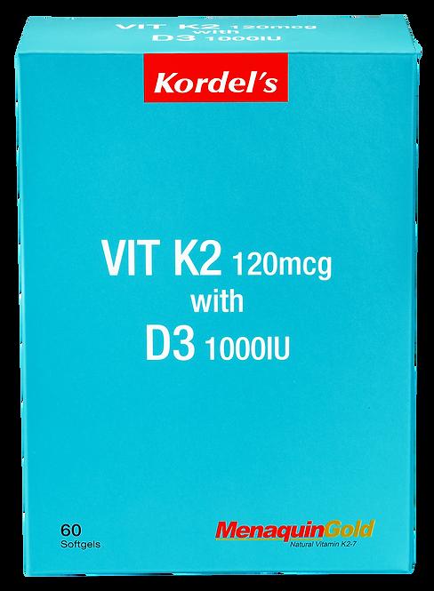 Kordel's Vit K2 120mcg with D3 1000IU