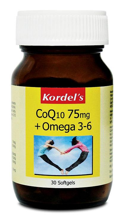 Kordel's CoQ10 75mg + Omega 3-6