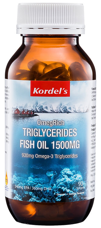 Kordel's OmegRich Triglycerides Fish Oil 1500mg