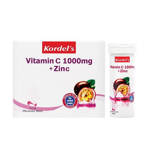 Kordel's Vitamin C 1000mg + Zinc Passion Fruit