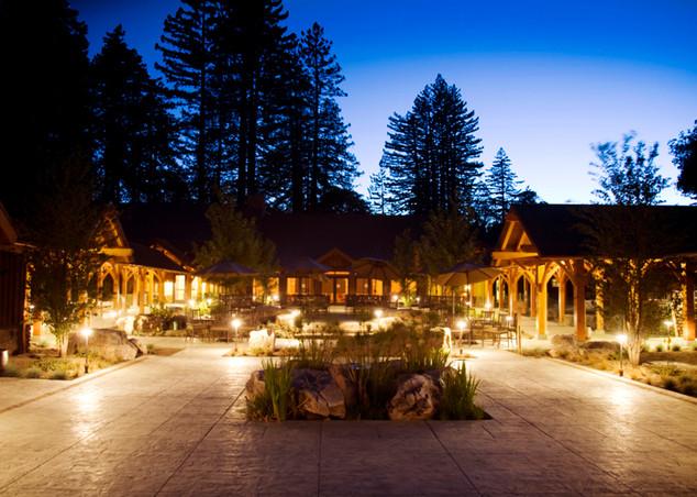 Lodge Deck At Night
