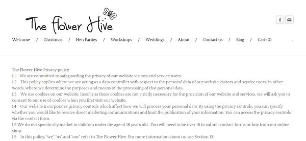 The Flower Hive Privacy Policy House Martin Media SEO and GDPR