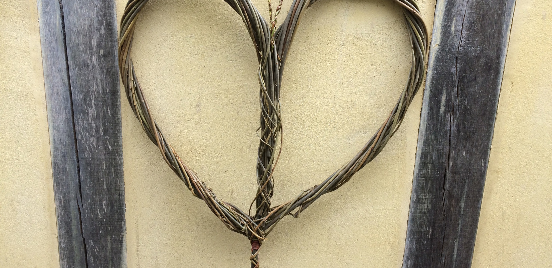 Willow heart willow weaving shropshire T