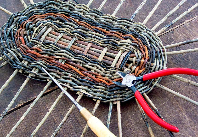 basketry and tools travelling weaver willow weaving shropshire