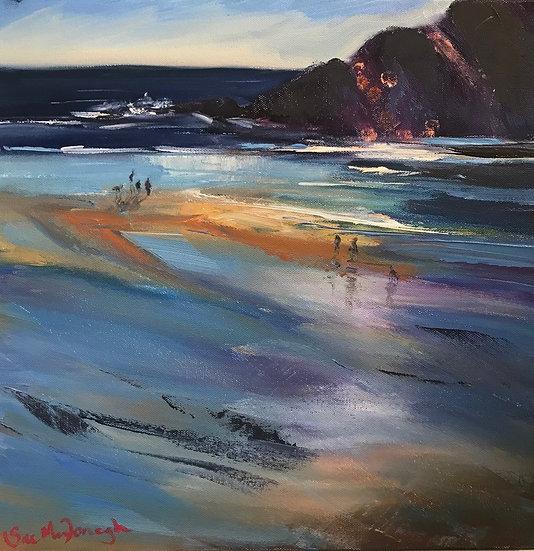 Late Sun and Ebbing Tide