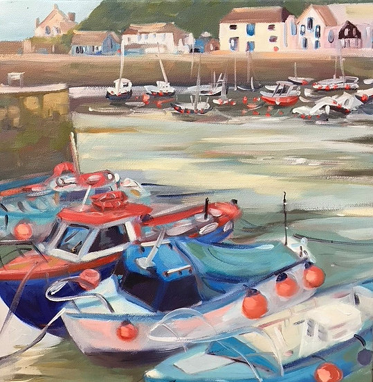 Boats in Cornish Harbour