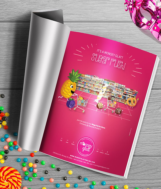Monsey Glatt purim ad - sugar rush