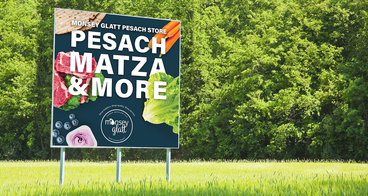 Monsey Glatt pesach billboard