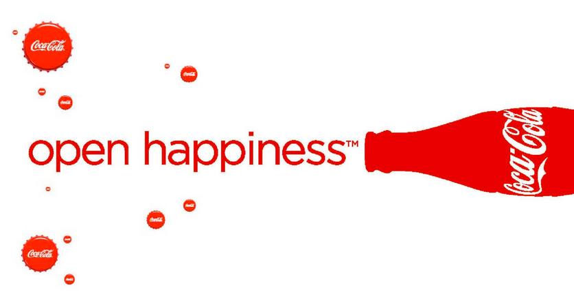 Coca Cola branding: open happiness