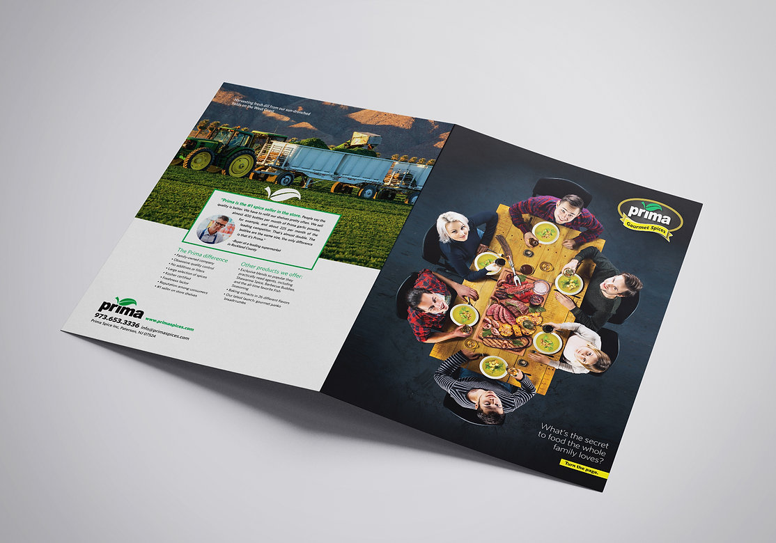 Prima Spices brochure,  HighSky Creative