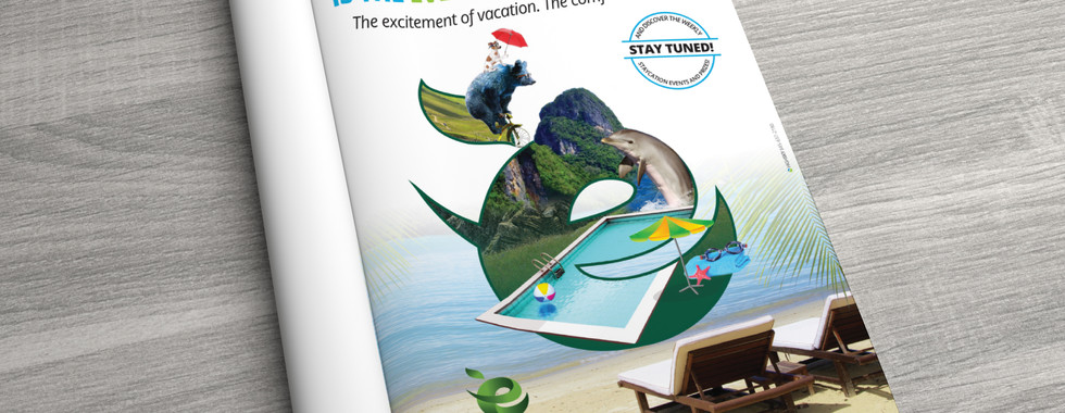 Evergreen Staycaytion Introductory Print Ad