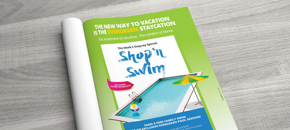 Shop 'n Swim Print Ad