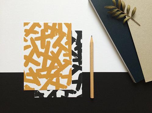Cartes Powder Noir/Moutarde