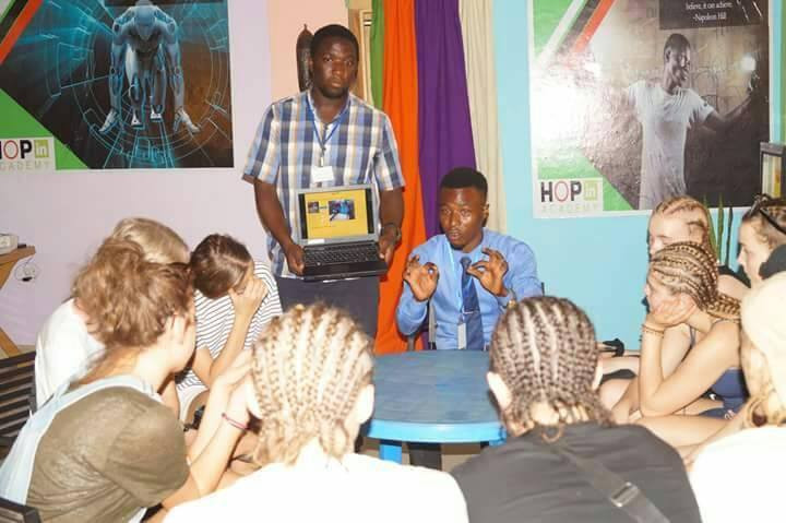 IDEA PITCHING AT HOPin ACADEMY, TAMALE