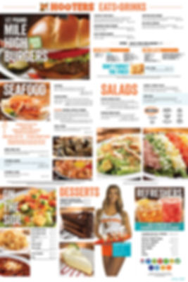 Hooters of Tropiana Menu Page 2