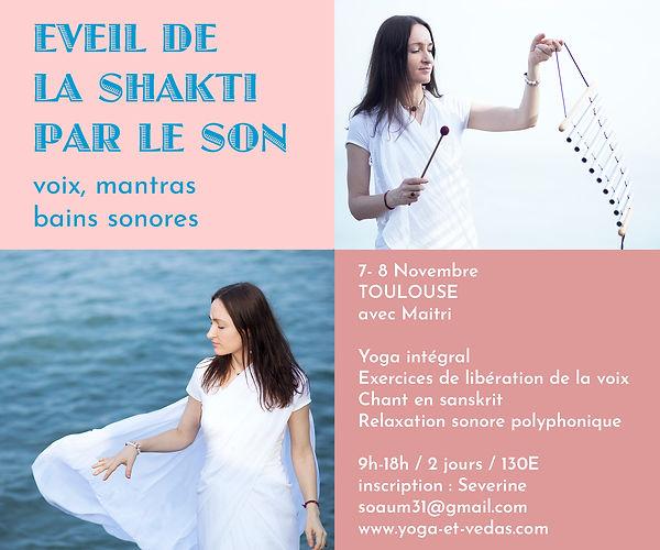 stage de yoga , voix , son shakti 7-8 novembre 2020 Toulouse