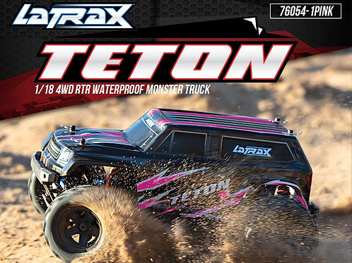 Traxxas LaTrax Teton 1/18 4WD RTR Waterproof Monster Truck Pink Version w/ 2.4GH