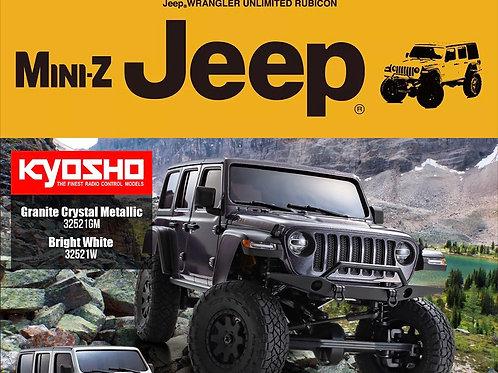 Kyosho Mini-Z 4x4 1/24 Jeep Wrangler Unlimited Rubicon Bright White Crawler w/ K