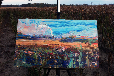 Painting in Melton's Field