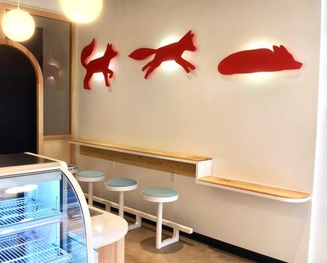 Sugar Fox Wall Bar with Fox Lights