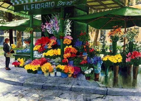 flower Vendor Italy