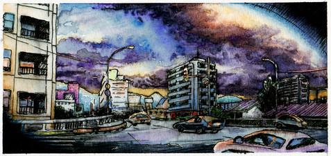 South Sapporo Watercolor