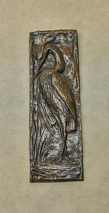 Heron Bronze Plaque
