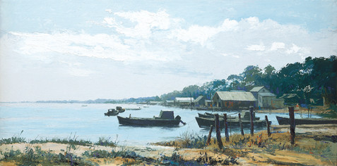 Oyster Boats at Rest