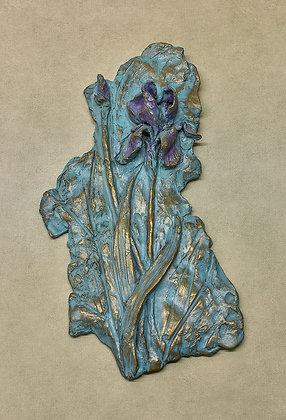 Iris Bronze Plaque