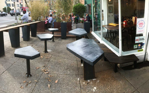 Red Fox Outdoor Concrete Tables