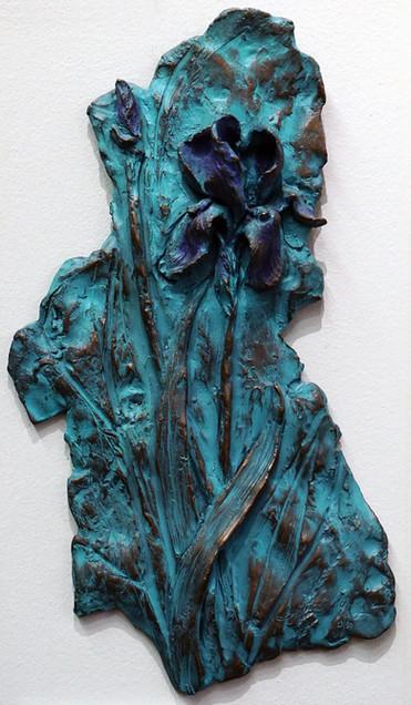 Iris Plaque Patina23BronzeGreen7_15.JPG