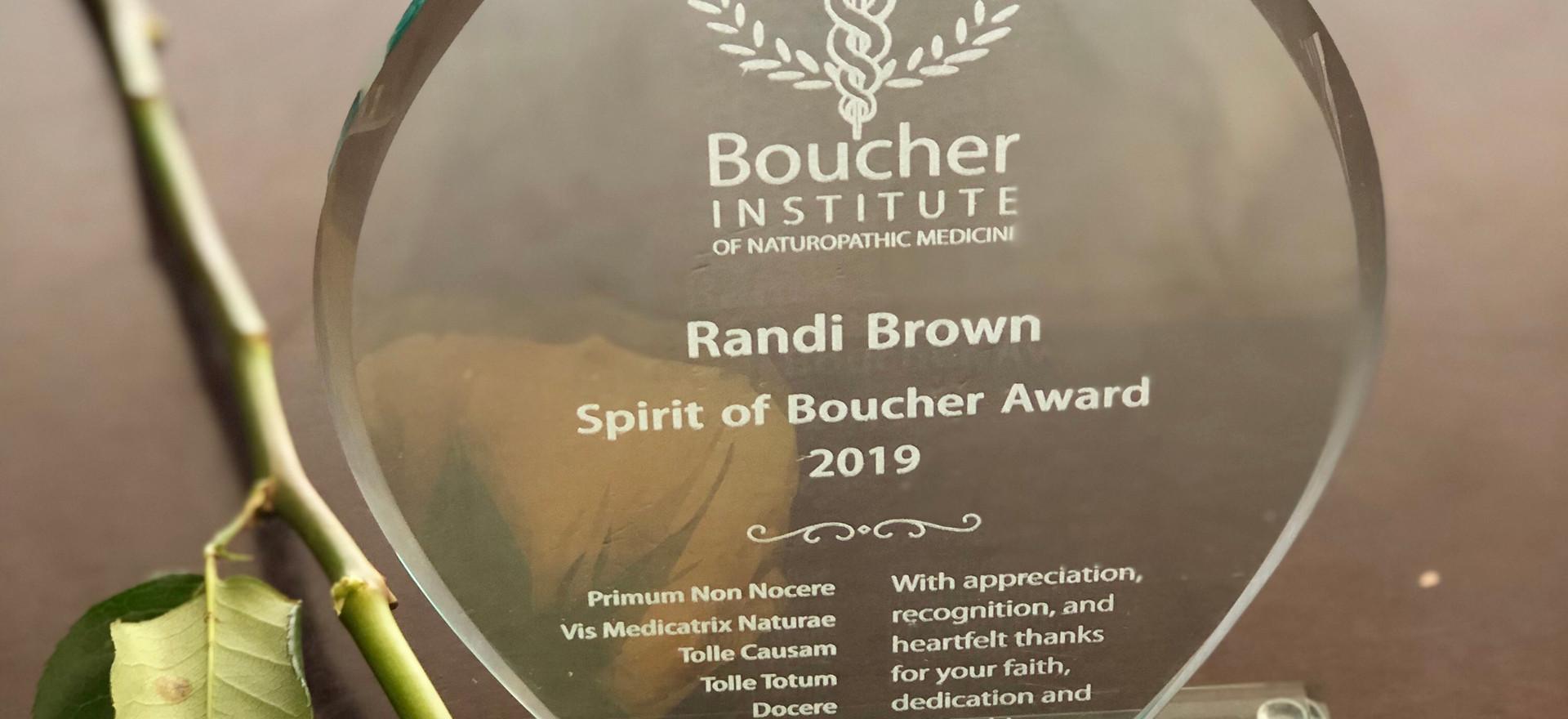 Spirit of Boucher Award