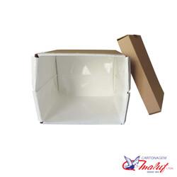 Caixa plastificada para açaí com tampa separada