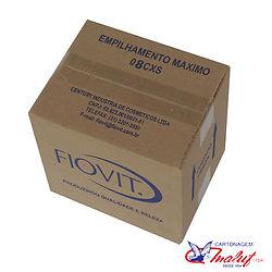 Caixa de papelão personalizada com empil