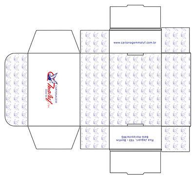 Ficha de impressão de embalagem de papel