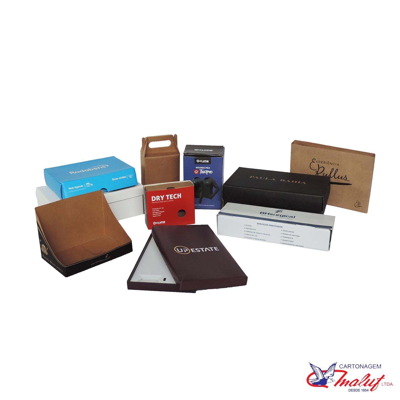 Embalagens de papel-cartão e kraft