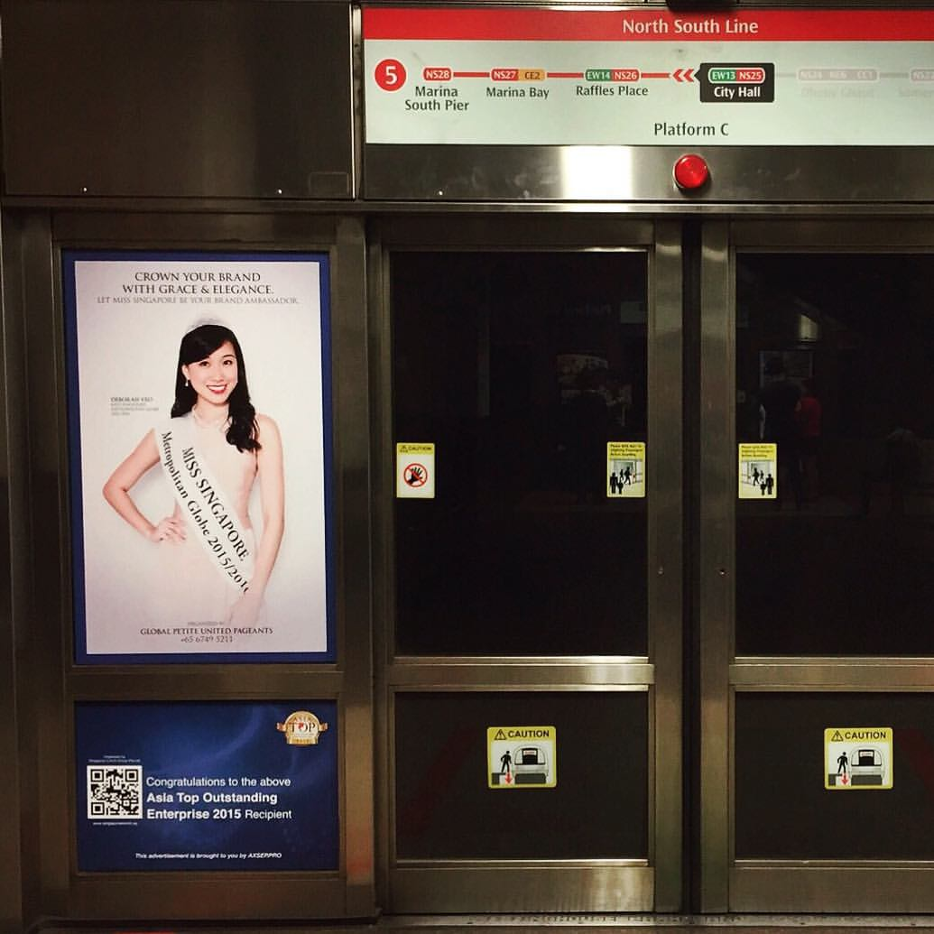 Miss Singapore Metropolitan Globe 2015/2016 Print Ad
