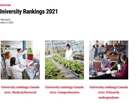 加拿大大学排名更新——那些年,你错过了多少好学校?