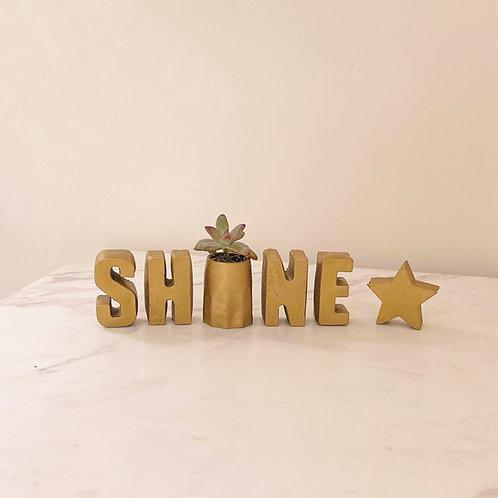 Set de letras SHINE