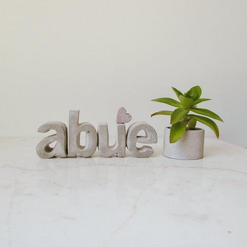 Letras decorativas abue