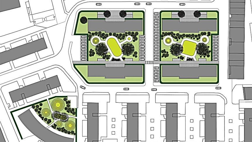 Pedestrian Rotary Meadows