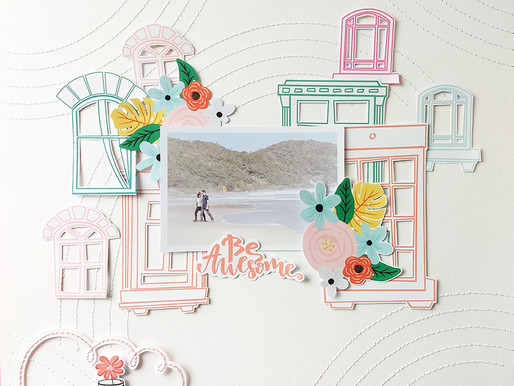 Bordado no papel com stencil by Tati Pereira