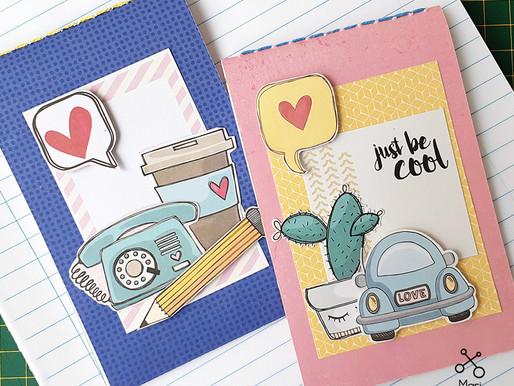 Reaproveitando sobras de cadernos by Mari Monteiro