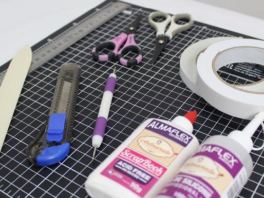 9 materiais básicos para começar no scrapbooking!