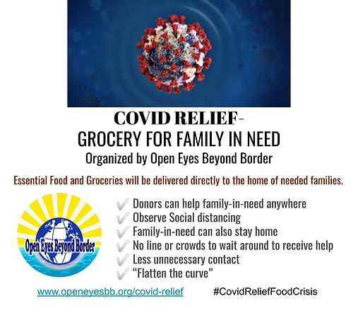 covid relief Grocery for family in need.